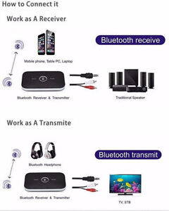 Bluetooth Transmitter & Receiver for your Stereo or Car audio