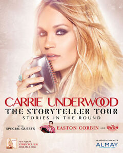 ➭➭Carrie Underwood ➭➭First Ontario Centre, SUN Nov 6 7:00 PM