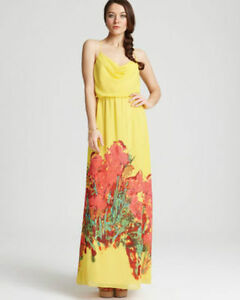 New w/ tags! Aqua Yellow Floral Maxi dress- retail $248