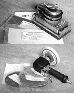 Pneumatic (air) Orbital and Jitterbug sanders with supplies