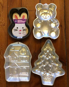 WILTON SHAPED CAKE PANS $7 each or all 4 for $20