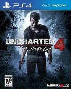 PS4 Uncharted 4 Game - MINT CONDITION