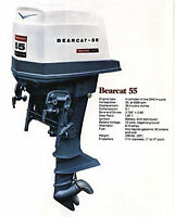Outboard Motor (2) 55 HP Bearcat 4 Cylinder 4 Cycle F Models