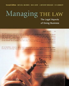 MANAGING THE LAW 2ND EDITION