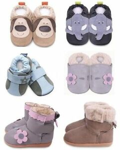NEW in original packages natural leather shoes/ boots for babies