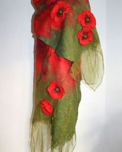 Thing from the designer! One and unique! 2017 Poppies in fashion