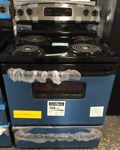Cuisinière 30'', Serpentins, Stainless, NEUF