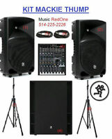 MACKIE THUMP KIT ACTIF * 2 SPEAKER+SUBWOOFER+MIXER*3200 WATTS !