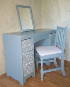 REFINISHED VANITY/DESK AND CHAIR