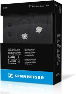 Sennheiser IE 80 Premium In-Ear Stereo Headphones Silver/Black