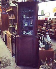 Lovely Antique Mahogany Glazed Display Cabinet