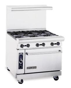 Six burner gas range with oven - brand new - 2 year warranty