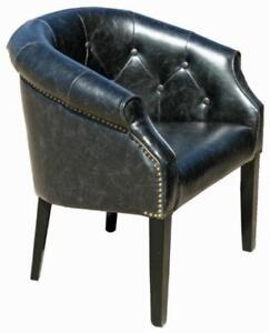 2 Antique Leather Tub Chair in Distress Brown or Distress Black