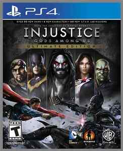 INJUSTICE : ULTIMATE EDITION PS4 BRAND NEW AND FACTORY SEALED Cambridge Kitchener Area image 1