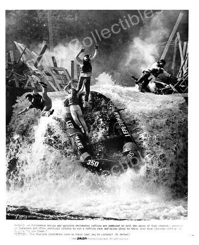 """UP THE CREEK-1984-B&W 8""""x10"""" STILL-WHITEWATER RAFTING FN"""