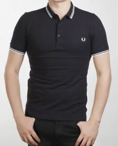 NEW FRED PERRY BLACK TWIN TIPPED PIQUE POLO - XS - S - $55 OBO