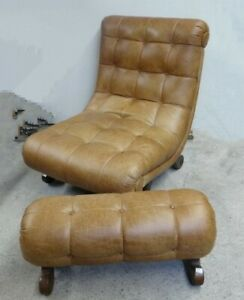 Looking for leather lounge chair and ottoman