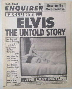 NATIONAL ENQUIRER 1977 ELVIS PRESLEY in COFFIN COVER Sept 6 1977