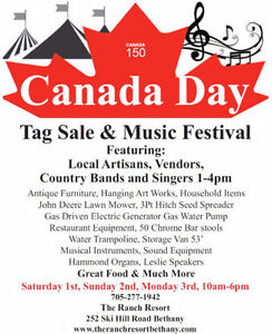 Tag Sale and Music Festival
