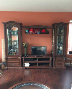 Luxury Display Cabinets + TV Stand