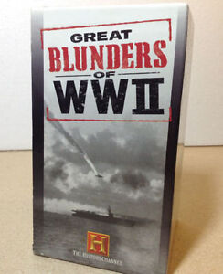 The History Channel's Great Blunders of WW II VHS Cambridge Kitchener Area image 3
