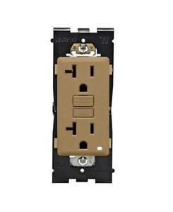 Leviton Renu REG20-WC Tamper-Resistant GFCI Outlet, 20A-125VAC (