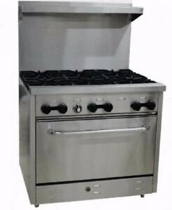 New 6 Burner Gas Range w/ 2 YEAR WARRANTY and FREE SHIPPING!