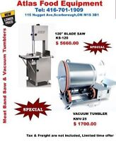 Meat Band Saw and Vacuum Tumblers