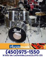 SUPER AUBAINE Batterie/ drum usagée PEARL avec cymbales SABIAN