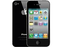 APPLE iPHONE 4 16GB BLACK ON O2 / GIFF GAFF COMES WITH BRAND NEW FRONT SCREEN!