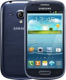 Samsung Galaxy S3 Mini Blue on O2 Fully Working Can Be Tested Before Purchase. Can Deliver Locally!!