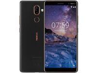 Nokia 7 Plus - 64GB - Black/Copper (Unlocked) Smartphone