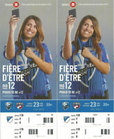 -----MONTREAL IMPACT vs FC Dallas Tickets-----(2 Behind Net)