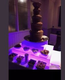 Chocolate fountain for hire with led base (£25)