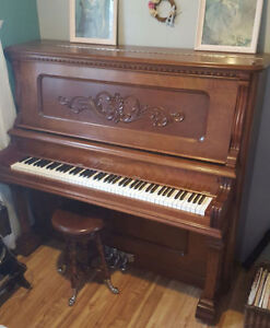 Beautiful Restored Antique Dominion Piano and Stool
