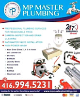 MP MASTER LICENSED PLUMBER 24/7 ( FREE VISIT & ESTIMATED)