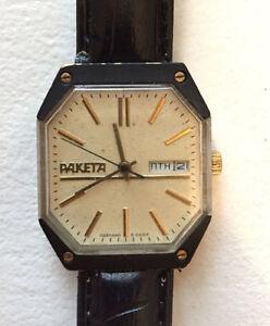 Vintage raketa mechanical watch