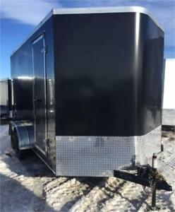 NEW 2018 7X14 AND 7X16 V NOSE WITH EXTRA HEIGHT ENCLOSED