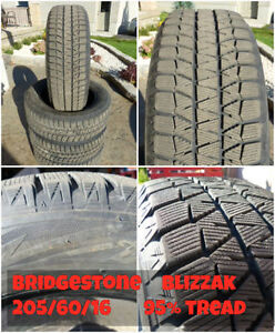 Used 16 - 17 inch winter tires / steel rims 14 - 17 inch
