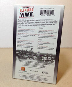 The History Channel's Great Blunders of WW II VHS Cambridge Kitchener Area image 4