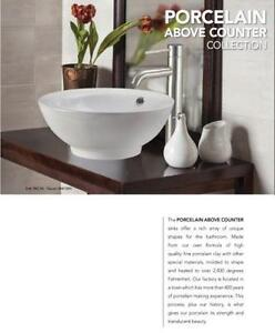 White Porcelain Sink Above Counter - 5 Choices
