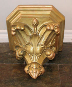 Beautiful Vintage, Ornate Wall Shelf/Sconce out of an old church