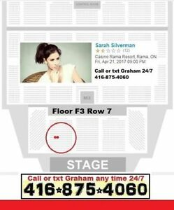 Sarah Silverman Floor Row 7 Casino Rama