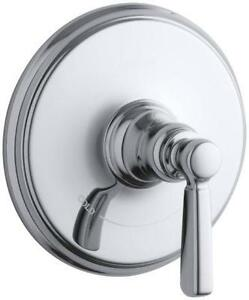 Kohler K-T10593-4-CP Bancroft Thermostatic Trim (Polished Chrome