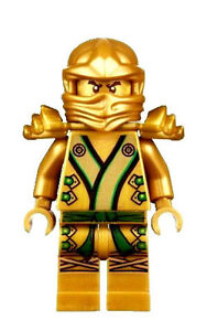 LEGO NINJAGO MINIFIGURE GREEN & GOLD NINJA KIMONO LLOYD TEMPLE OF LIGHT