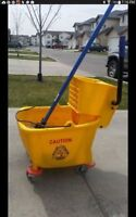 Commercial grade mopping bucket and mop