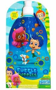 New Bubble Guppies Collapsible Water Bottle 380ml Sans BPA Free