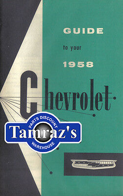 1958 58 Chevrolet Owners Manual