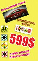 EXAMEN SAAQ,COURS DE CONDUITE COMPLET 599$,PERMIS DE CONDUIRE