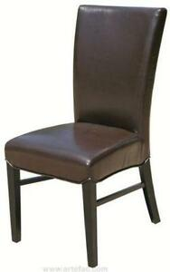 4 -Restaurant Quality High Back Black Leather Dining Room Chair
